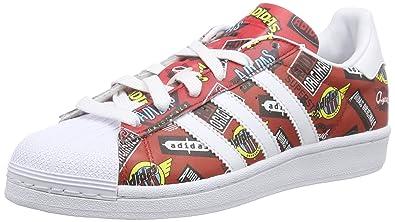 8869bd8ff093 Amazon.com   adidas Superstar NIGO Allover Print, Unisex Adults  Low-Top  Sneakers, Red - Rot (Scarlet FTWR White Bluebird), 10.5 UK (45 1 3 EU)    Fashion ...