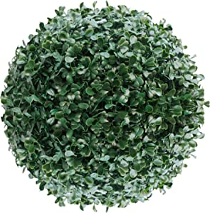 ECOOPTS 8 Inch Artificial Topiary Ball Lifelike Plants Boxwood Decor Cone for Wedding, Home, Front Patio,Planter,Deck,Garden,Backyard Décor Multiple Sizes 1 Pack
