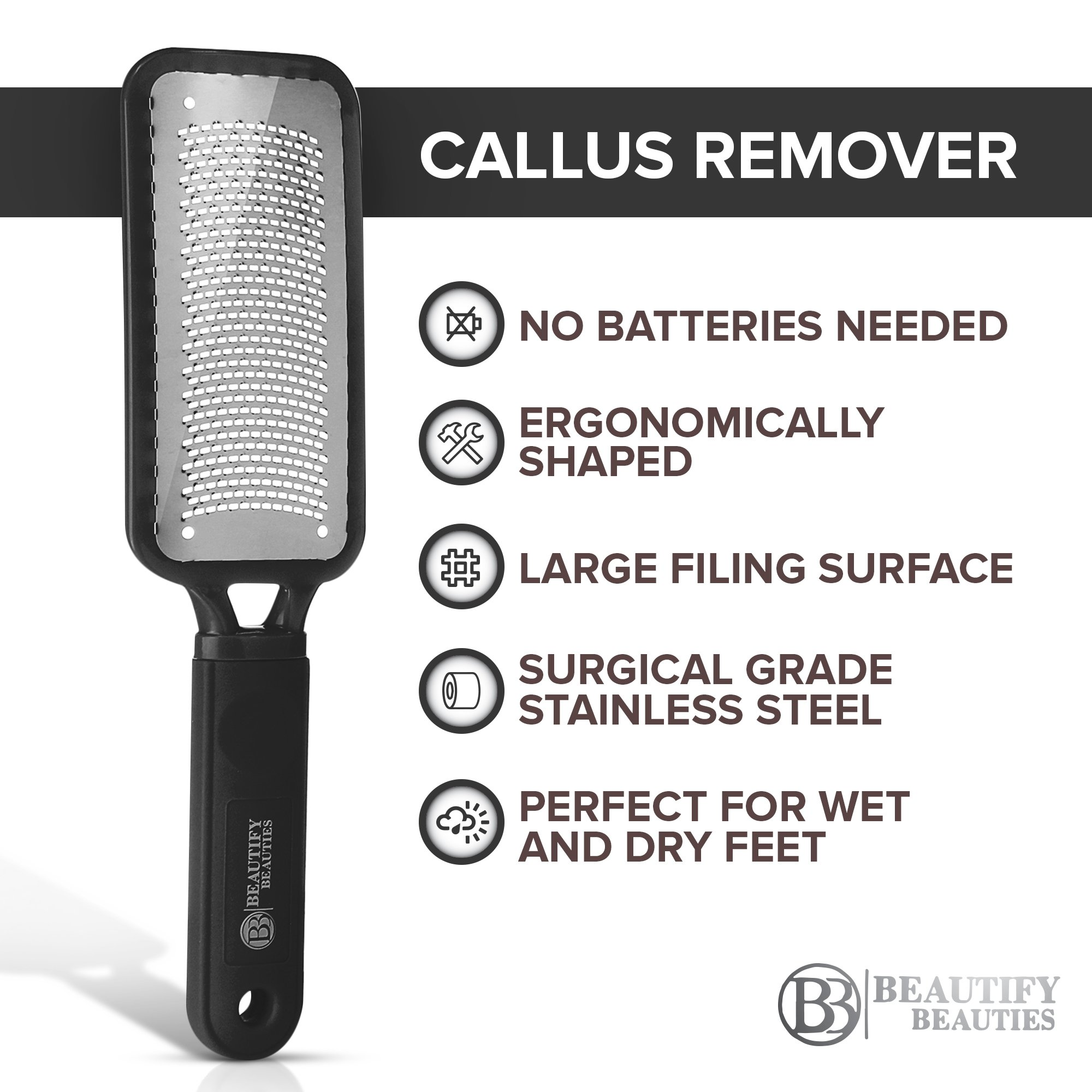 Beautify Beauties Foot File Callus Remover - 2 Pack by Beautify Beauties (Image #2)