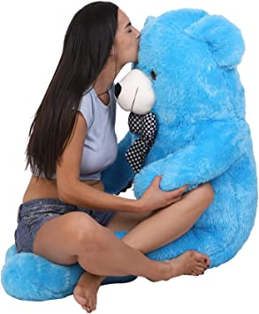 OSJS JMS Toys Specialist Smooth and Soft Teddy Bear for Girls (Colour Sky Blue Size 4 Feet)