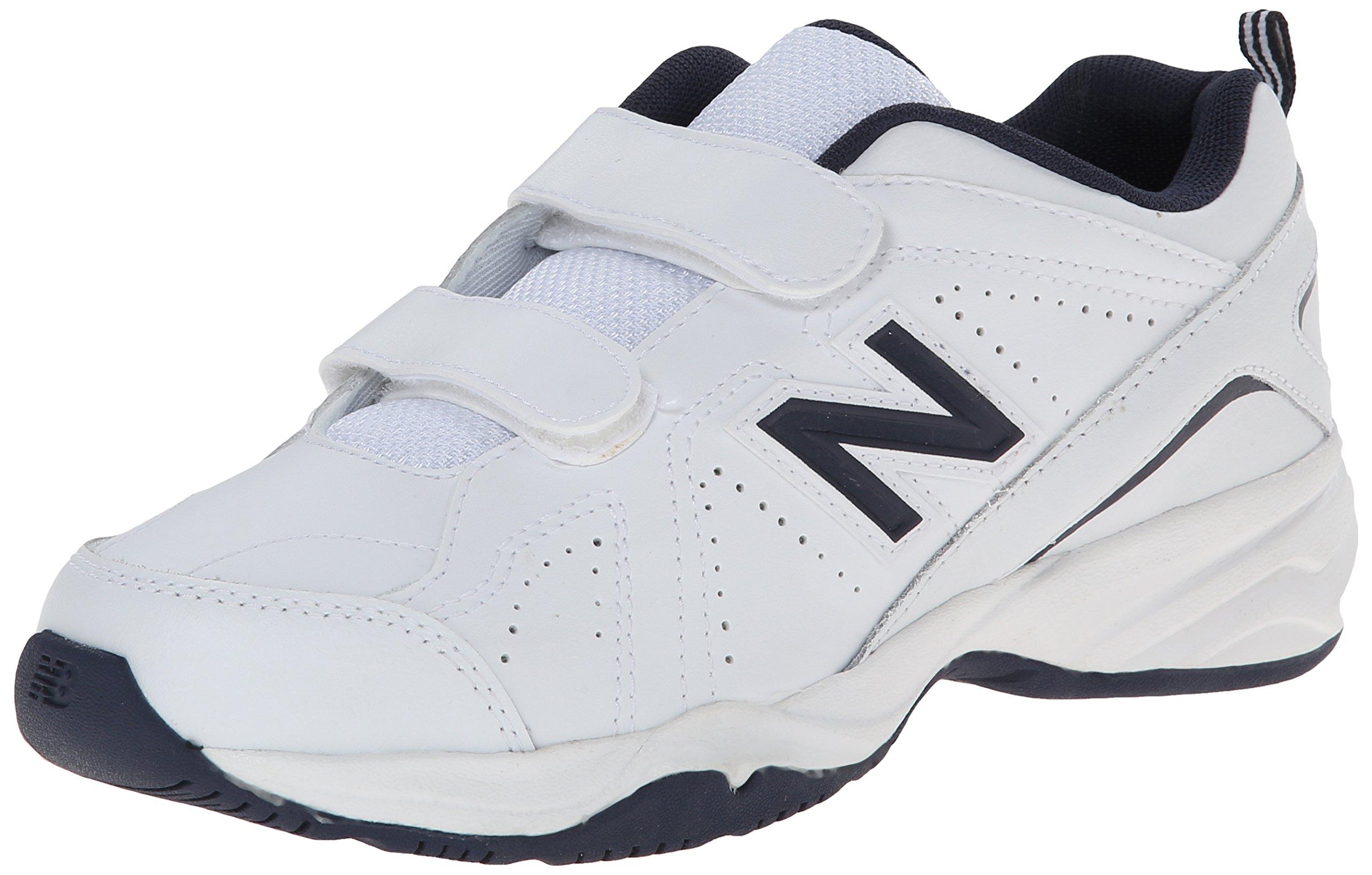 New Balance Boys' KV624 Hook and Loop Training Shoe, Navy/White, 2 XW US Little Kid