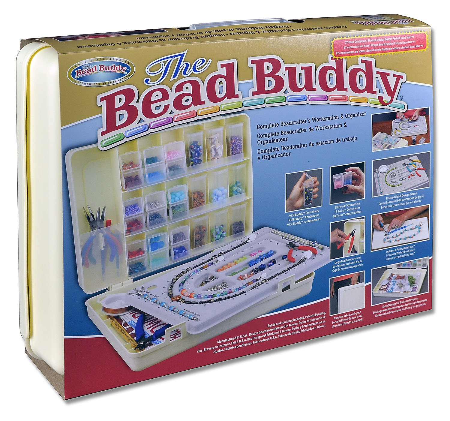 Bead Buddy Complete Beadcrafter's Workstation And Organizer-Beading Supplies-Jewelry Making Supplies And Storage by Bead Buddy
