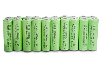 Ppower 20 Piles Aa Ni Cd 600mah Piles Rechargeables Pour Lampe