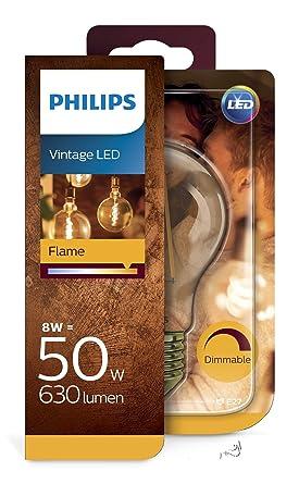 Philips Bombilla LED E27, 7.5 W equivalentes a 48 W en incandescencia, luz blanca