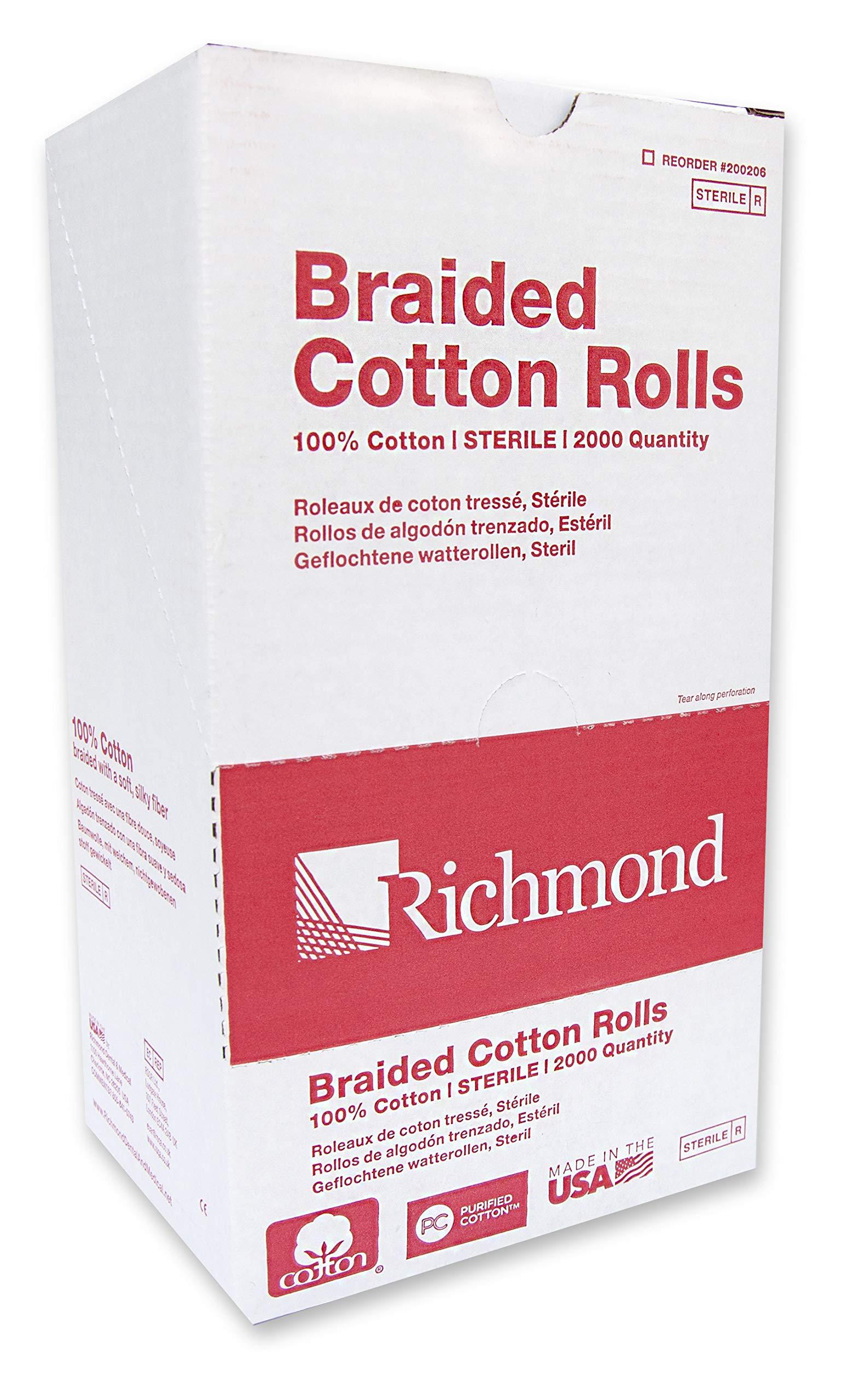 Richmond Dental & Medical 200206 1.5'', Medium Braided Cotton Roll, Sterile by Richmond Dental & Medical (Image #1)