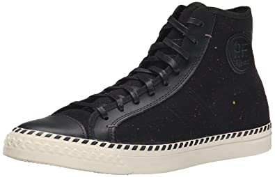 PF Flyers Mens Rambler Speckled Fashion Sneaker Black
