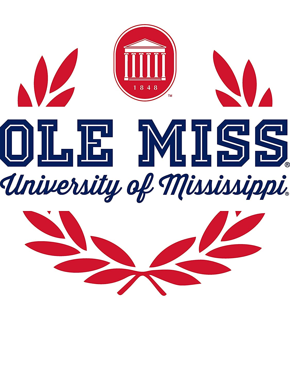 NCAA Ole Miss Rebels 1709AE08 Mens Long Sleeve Jersey Henley