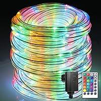 Cadena de luces exterior B-ight Manguera de luz LED, Cadena Luz con Mando a operable, impermeable IP65, luz de Navidad para…