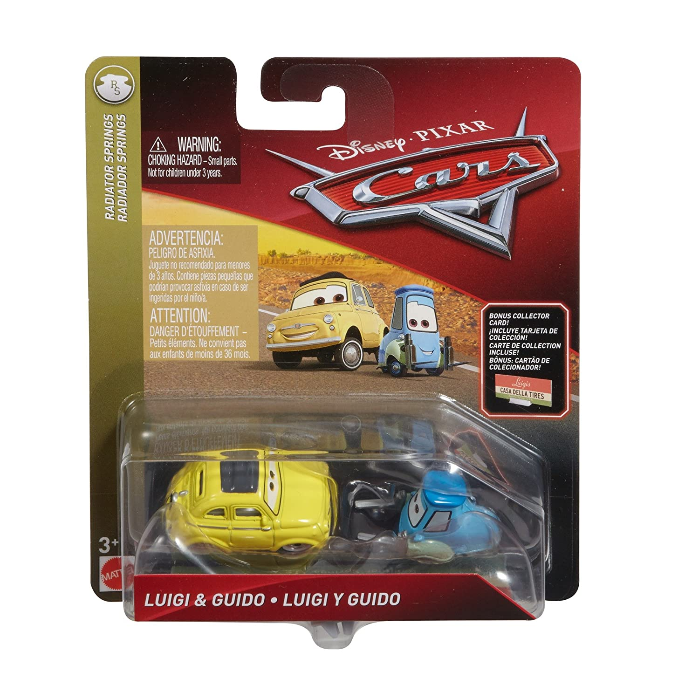 Disney//Pixar Cars Die-cast Guido /& Luigi Vehicle with Accessory Card Mattel FLL52