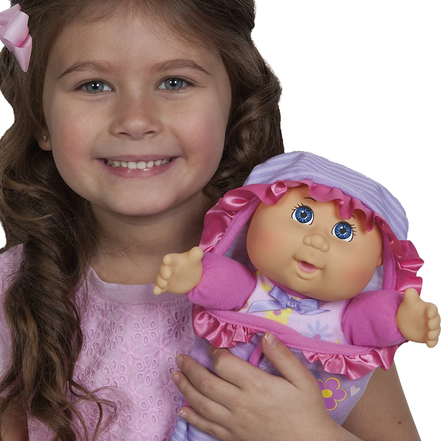 4a2b2e27bc6 Amazon.com: Cabbage Patch Kids Official, Newborn Baby Doll Girl - Comes  with Swaddle Blanket and Unique Adoption Birth Announcement: Toys & Games