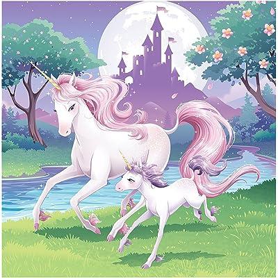 16Serviettes * Fantasy Licorne * pour anniversaire d'enfant ou fête de la devise//Napkins Devise Unicorn fille Monde de rêve Château Nuages