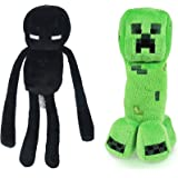 Minecraft 7 Plush Enderman & Creeper Set Of 2