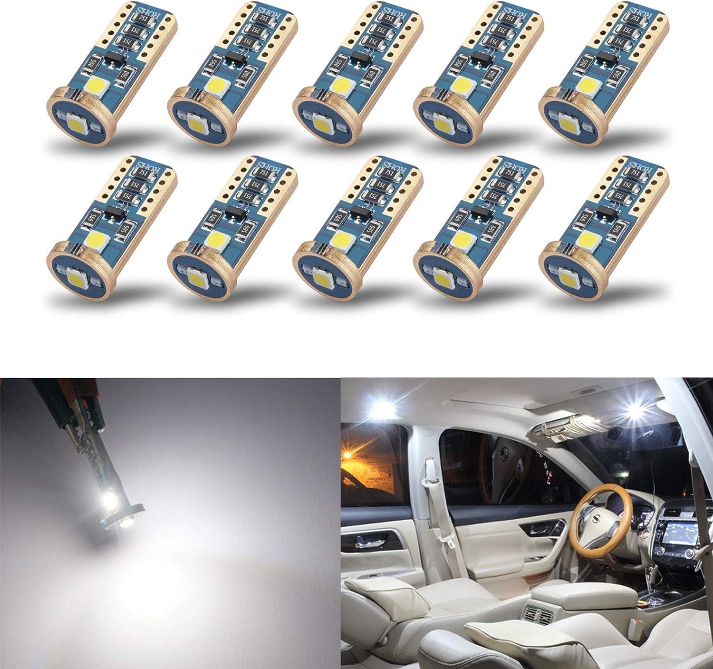 SiriusLED 194 168 LED Map Doors Interior 100LM Light Bulbs 8000K Blue 6 Pack 1W