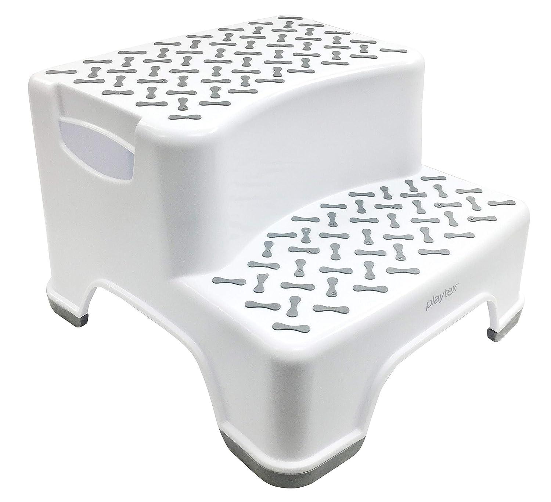 Yier Plastic bathroom child 2 step stool for kitchen step stool kids 2 steps for toilet,white