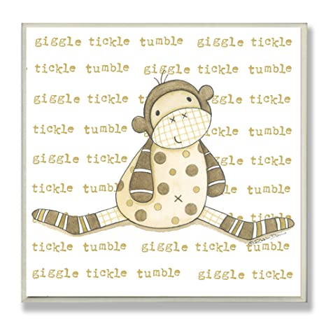 Buy The Kids Room By Stupell Square Wall Decor, Sock Monkey Giggle ...