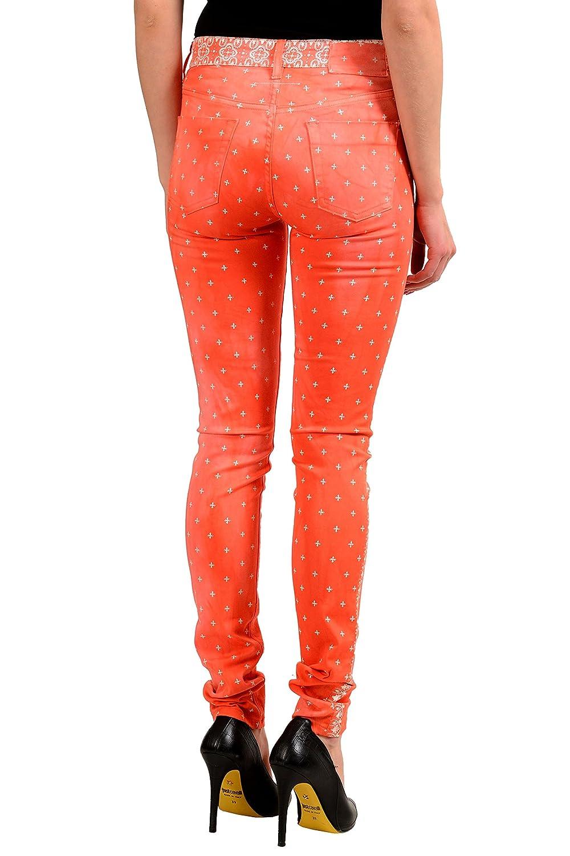 Maison Margiela MM6 Multi-Color Womans Slim Fit Skinny Jeans US M IT 42