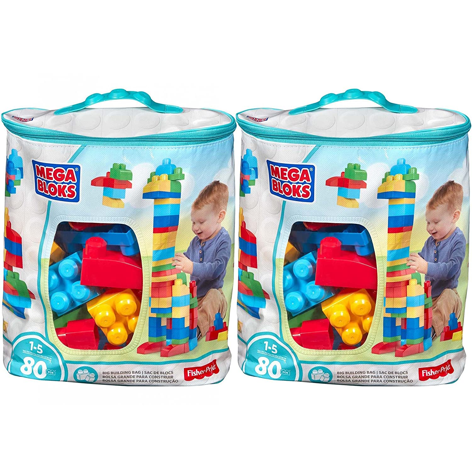 Mega Bloks First Builders Classic Set Big Building Bags DCH63 (160 Pieces)