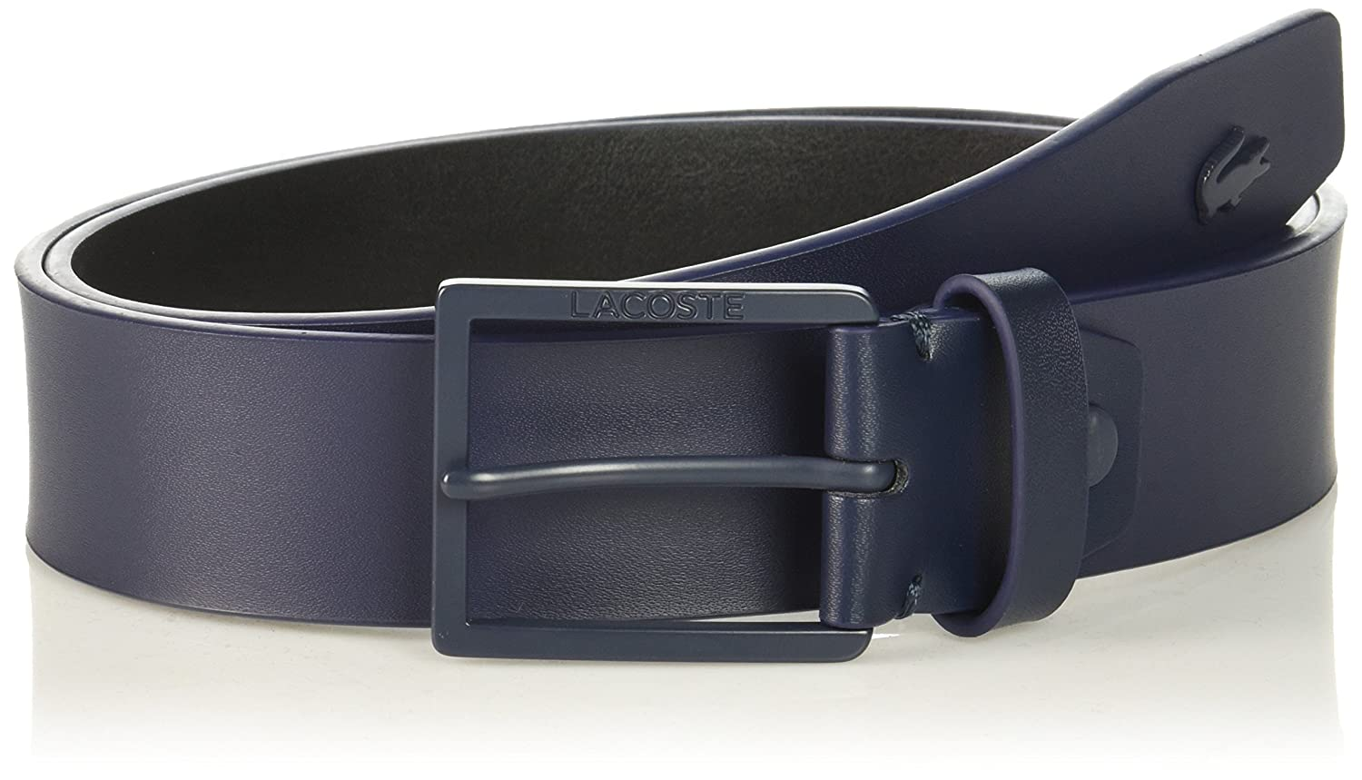 181d4960240457 Lacoste Men s Classic Logo Embossed Buckle Belt at Amazon Men s Clothing  store