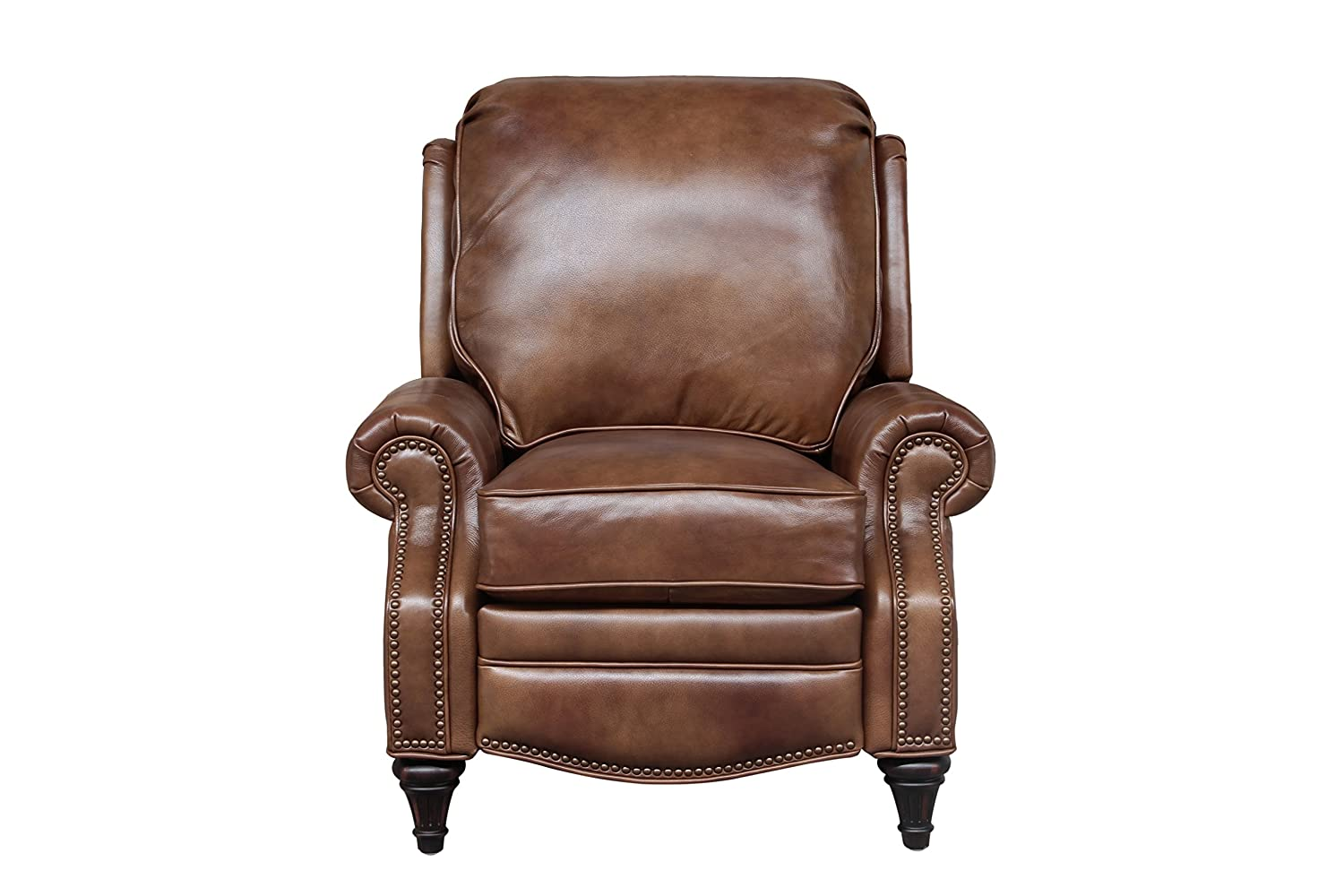 BarcaLounger Avery 7-2160 Push Back Manual Push Back Recliner Chair – 5702-85 Wenlock Tawny All Leather