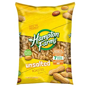 Hampton Farms Unsalted Roasted In-Shell Peanuts, 5 Lbs
