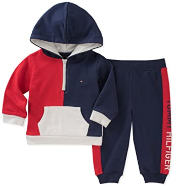 1c06cf5ece72 Amazon.com  Tommy Hilfiger Baby Boys 2 Pieces Hoodie Pants Set  Clothing