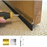 Stormguard 02SR0190838G 838mm Bottom of The Door Brush Strip Draught Excluder - Gold