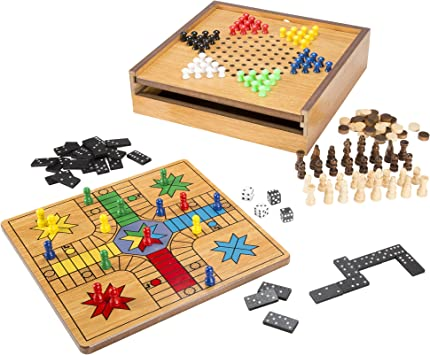 HEY! PLAY! 7-in-1 Combo Juego con ajedrez, Ludo, Damas Chino & más: Amazon.es: Juguetes y juegos