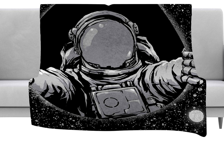 60 x 40 Fleece Blankets Kess InHouse Carbine Black Hole Fantasy Digital Throw