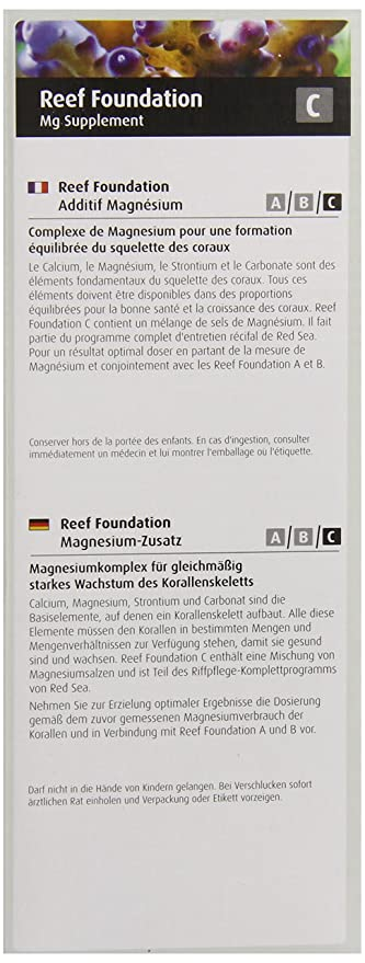 Red Sea Fish Pharm ARE22033 Reef Foundation Magnesium Supplement-C for Aquarium, 500ml