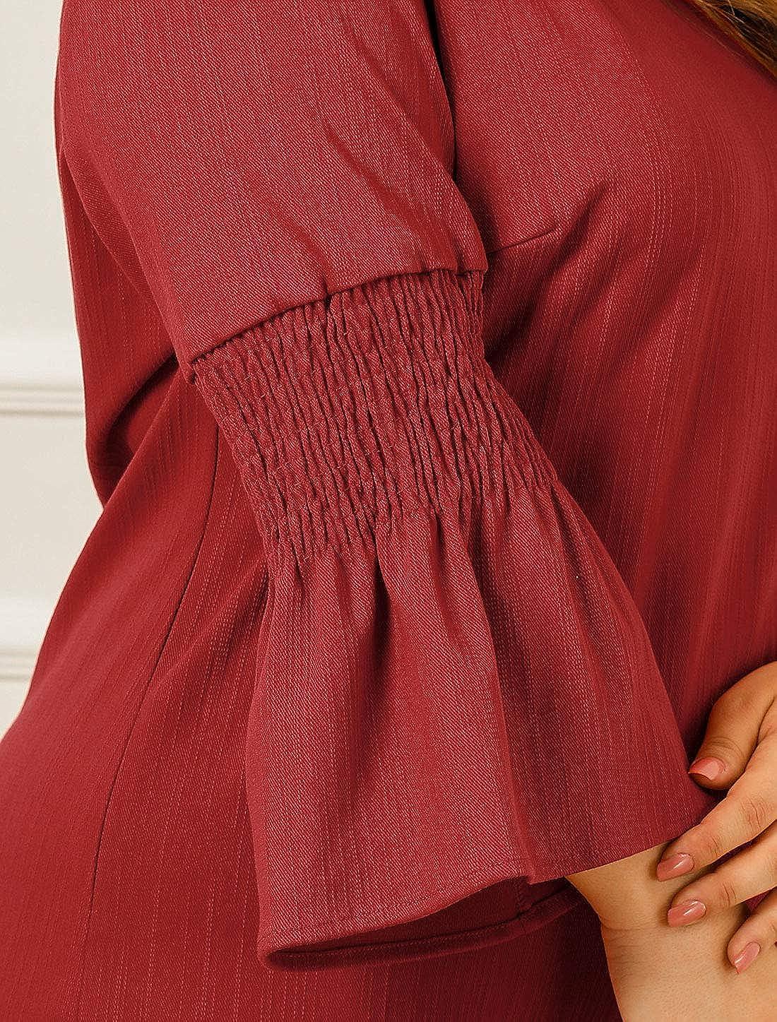 Agnes Orinda Womens Shift Dress Plus Size Loose Smock Chambray Denim Dresses