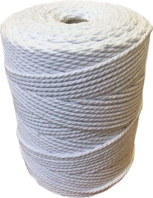 Macramé - Bobina de hilo de macramé de algodón de 3 mm y 6 mm; cordón de trenzado para soportes colgantes para plantas, fundas para muebles, tapices: Amazon.es: Juguetes y juegos