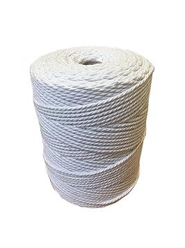 Cordon Pour Macrame 3mm Bobine De 1kg 100 Cotton Couleur Blanc