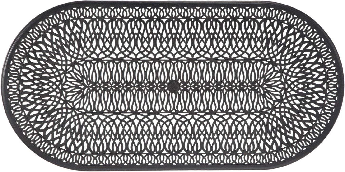 Cast Aluminum 72 x 42 Oval Patio Dining Table Everhome Designs