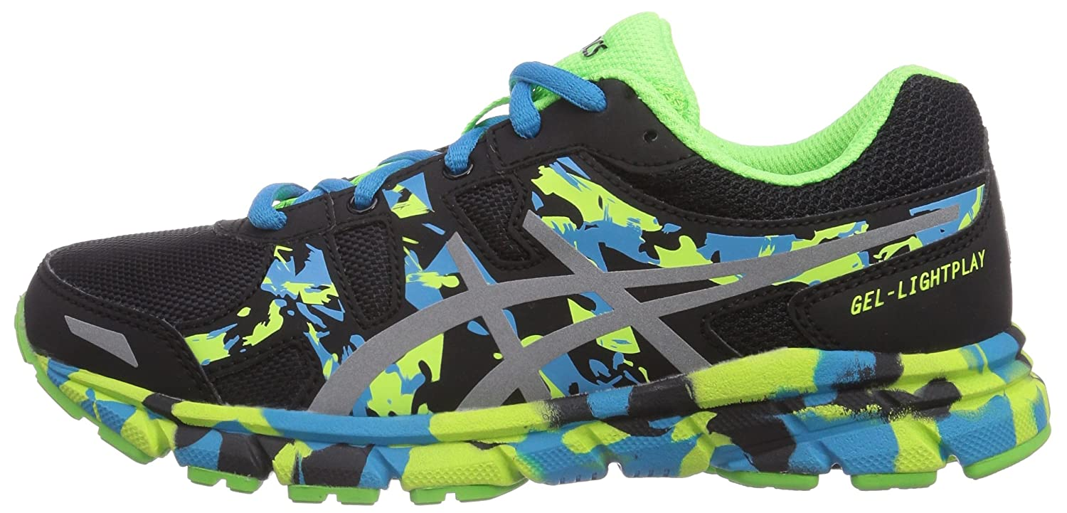 Asics Gel-Lightplay Gs, Unisex-Childs' Running Shoes, Black/Silver/Flash  Green, 13.5 UK Child (33 EU): Amazon.co.uk: Shoes & Bags