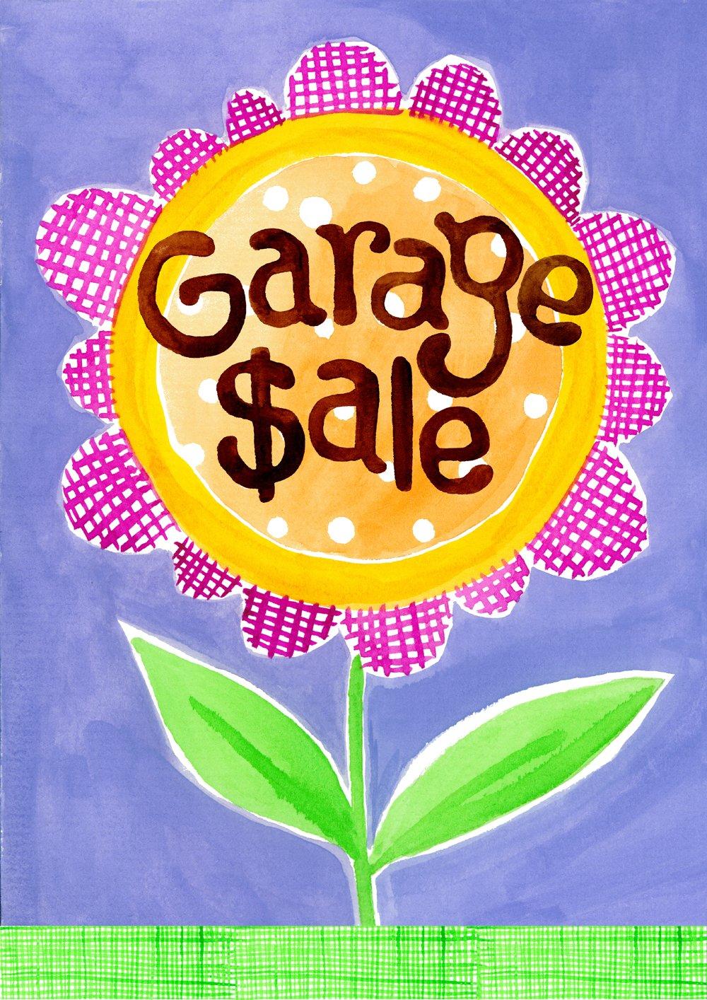 Toland Home Garden Garage Sale 12.5 x 18 Inch Decorative Colorful Flower Estate Yard for Sale Sign Garden Flag