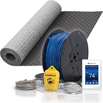 Suntouch Warmwire 240v 200 Sq Ft Floor Heat Kit Cable And Thermostat Bundled With 200 Sq Ft Heatmatrix Uncoupling Membrane Amazon Com