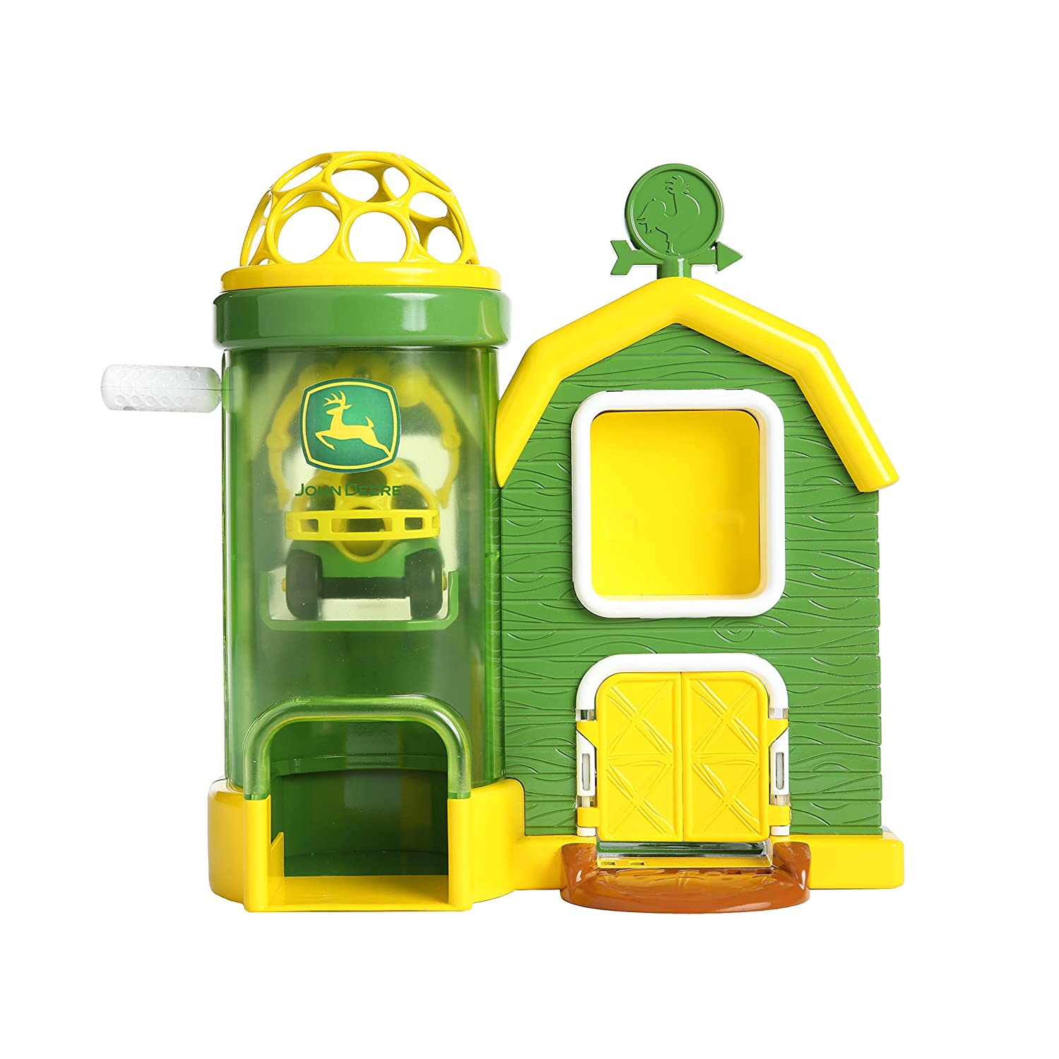 B079Z7FVFD Oball Go Grippers John Deere Rev Up Barnhouse Playset and Push Vehicle, Ages 12 months + 81paVQAQ3dL