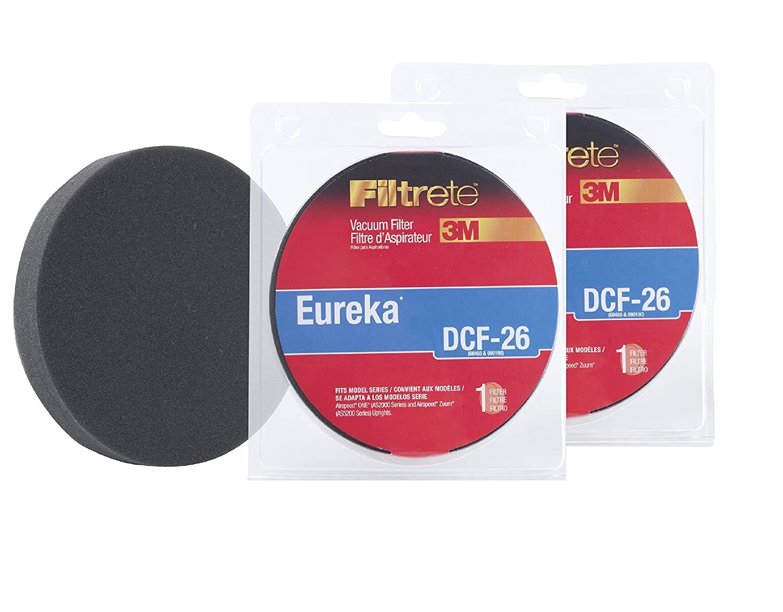 2 Eureka DCF-26 Allergen Vacuum Filters By 3M Filtret