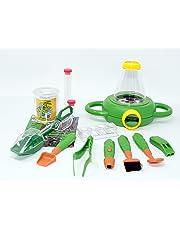 EDU Toys Pfiffiges Insektenforscher Set für Kinder mit Insektenzange, 2-Wege-Lupendose, div. Forschermaterial und Lupenheft
