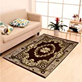 "Home Elite Ethnic Velvet Touch Abstract Chenille Thin Carpet/mat/Dari- 55""x80"", Multicolour"