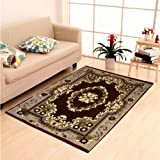 "Home Elite Ethnic Velvet Touch Abstract Chenille Carpet - 55""x80"", Multicolour"