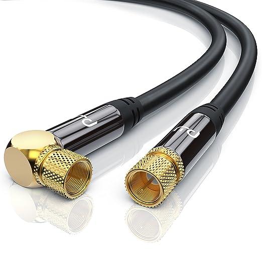 326 opinioni per Premium 1,5m cavo per antenna / SAT / Cavo per satellite | con 1x Gomito 90° |
