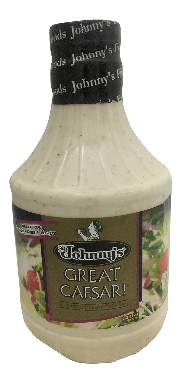 Johnny's Great Caesar Dressing, 32 Ounce Bottle