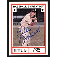 $110 » Stan Musial Autographed 1982 Tcma Baseball's Greatest Hitters Card #2 St. Louis Cardinals - Certified Authentic