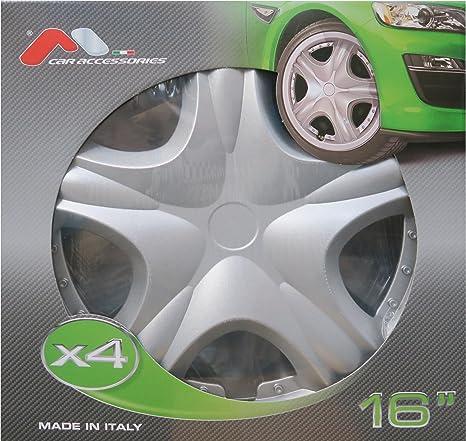 M-Way Serie 4 Tapacubos Llantas 16 Houston Pintura Brillante Coche Accesorios Externo