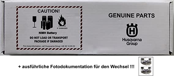 Original Husqvarna® Automower™ Batterie Akku+Anlei+18 M