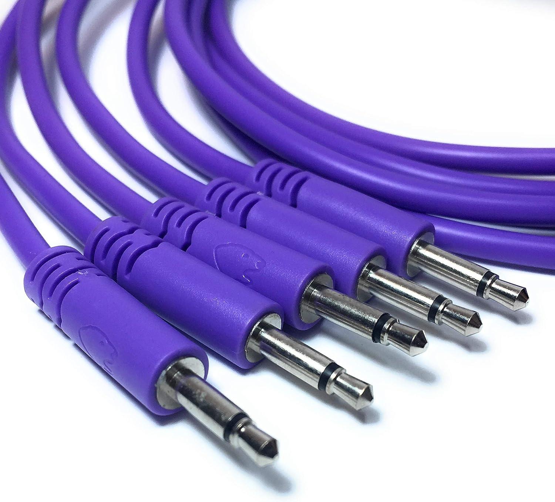 45cm, Blanco 10 colores//7 longitudes Juego de 5 cables de conexi/ón mono de 3,5 mm para uso con sintetizadores modulares Eurorack Patch Cables /…