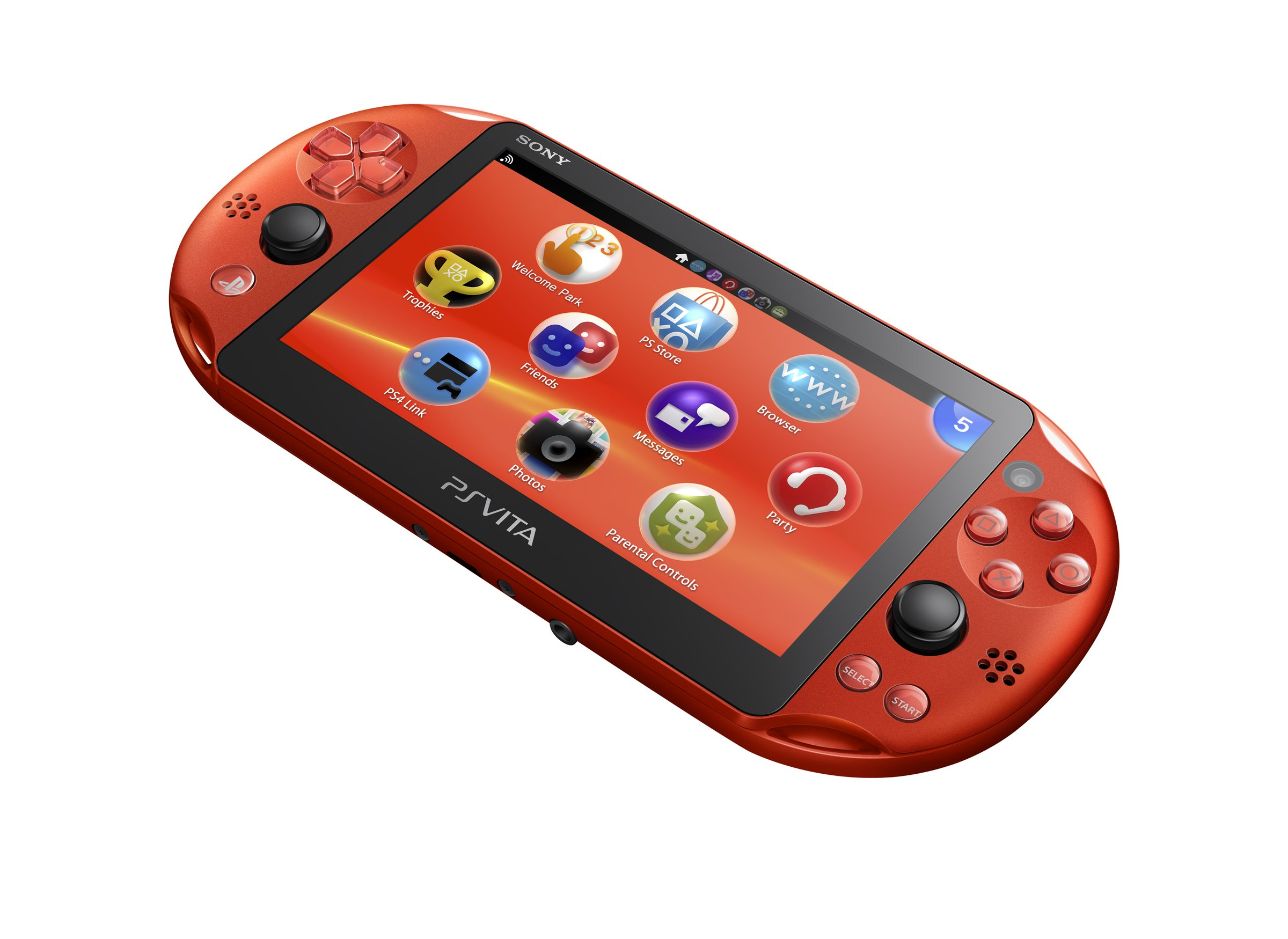 PlayStation Vita Wi-Fi Metallic Red PCH-2000ZA26 (Japan Import) by Sony (Image #5)