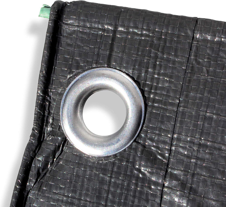 200gsm Heavy Duty Reinforced Mesh Clear Waterproof Tarpaulin Cover Mono Sheet