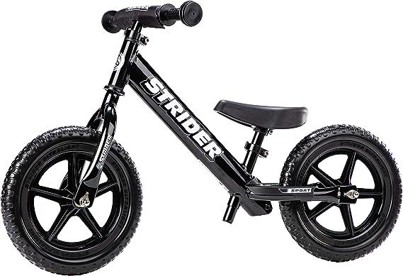 Strider - Bicicleta sin pedales Strider 12 Sport, para niños de 18 meses a 5 años, negra: Amazon.es: Deportes y aire libre